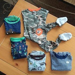 Bundle of Toddler Boy pajamas